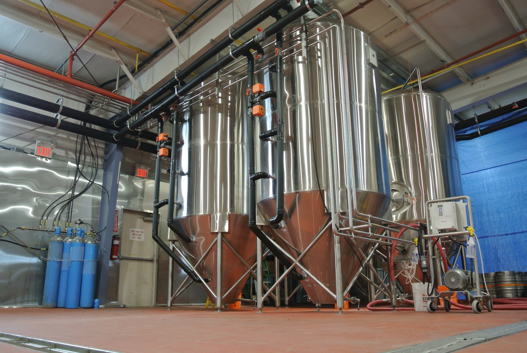 Custom stainless steel brewery equipment from Pure Ingenuity.