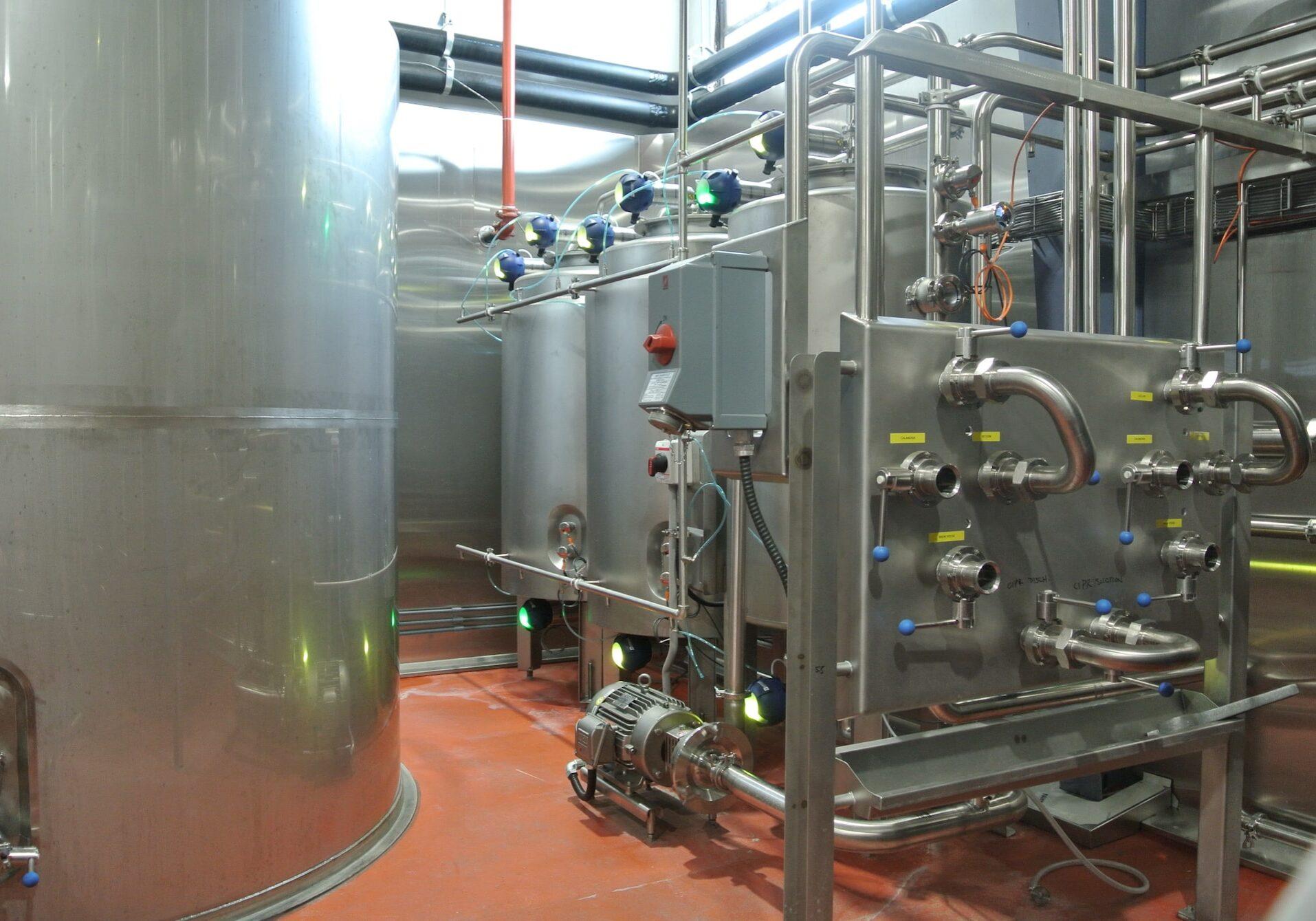 Pure Ingenuity custom fabrication steel brewery equipment.